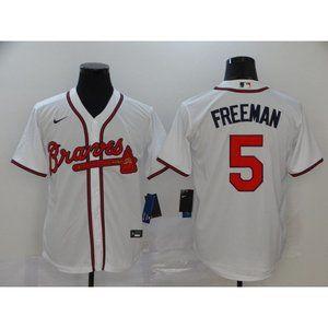 Atlanta Braves Freddie Freeman White Jersey